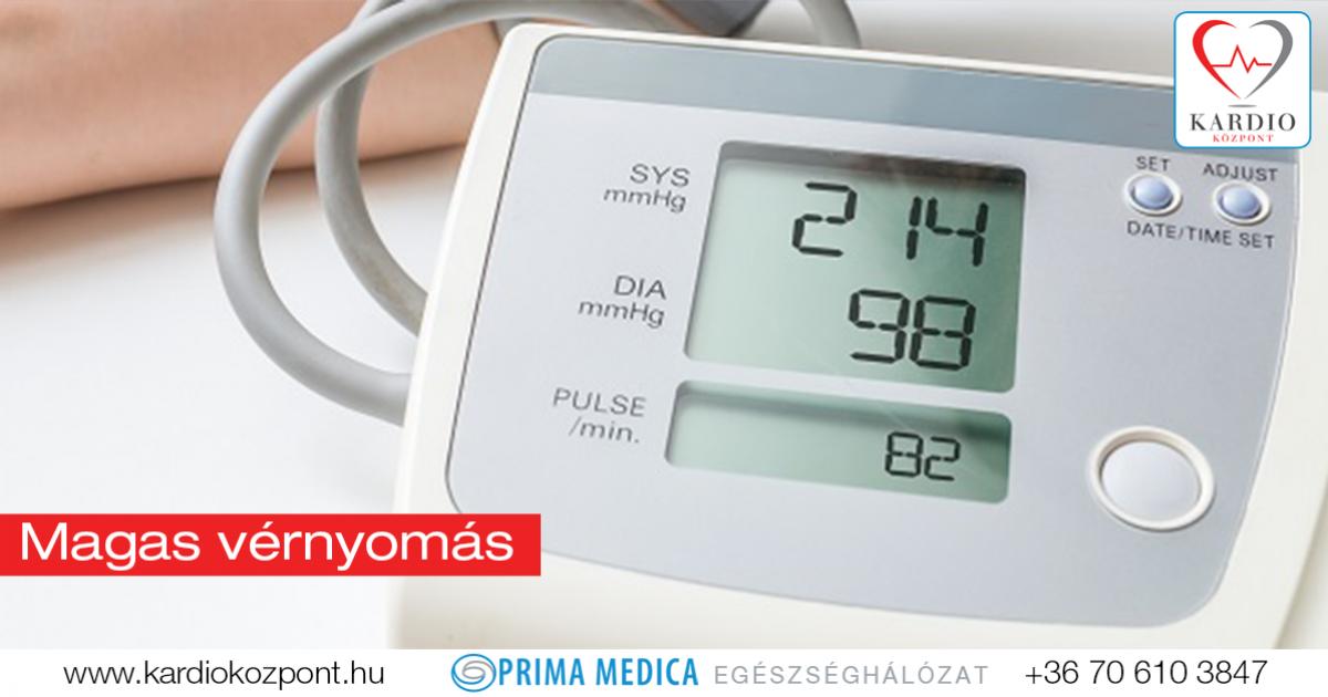 átlagos magas vérnyomás