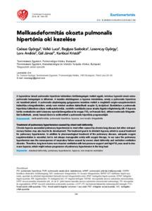 hogyan kell kezelni a pulmonalis hipertóniát magas vérnyomás és pulzus vele