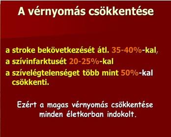 a magas vérnyomás a vérnyomás csökkenése