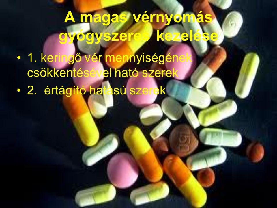 magas vérnyomás és gyógyszerek kezelésre
