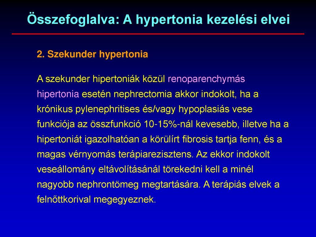 renoparenchymás hipertónia
